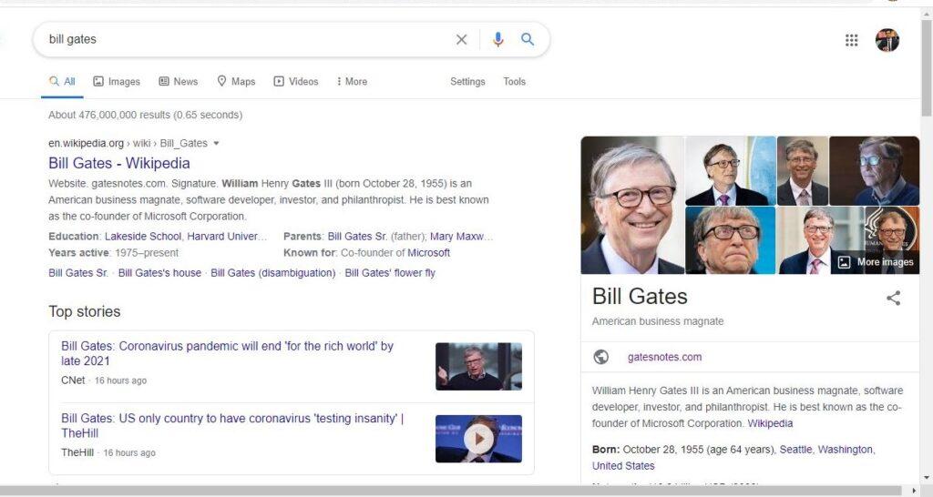 Personal branding of Bill Gates